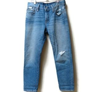 Levi's 501 Distressed Jeans marked 25x32